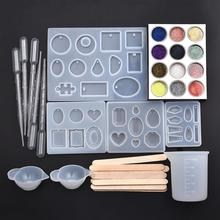 Silicone Molds Earrings Jewelry-Kit Pendant Crafts Uv Epoxy Resin Handmade DIY