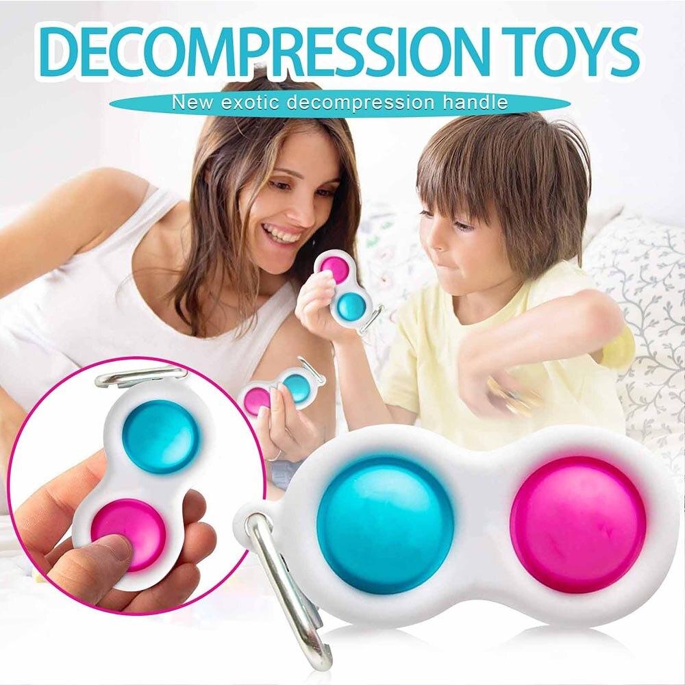 Popit Toy Fidget-Toys Squeeze-Fidget Stress Relief Push Bubble Simple Dimple Relieve-Stress img3