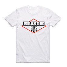 Asian size Fashion Men Print Beastie Boys Cool T-shirt O-Neck Short Sleeves Hip Hop Music T Shirt Hipster Tops Tees Harajuku