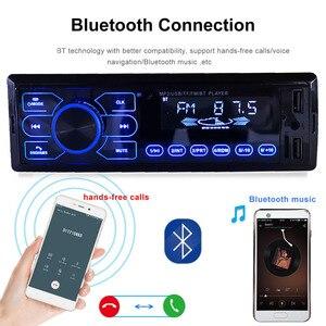 Image 4 - Auto Radio Stereo Player Bluetooth AUX IN MP3 FM USB 1 Din Auto Auto 1DIN Für Kia Hyundai Toyota Ford Nissan mitsubishi Suzuki ISO