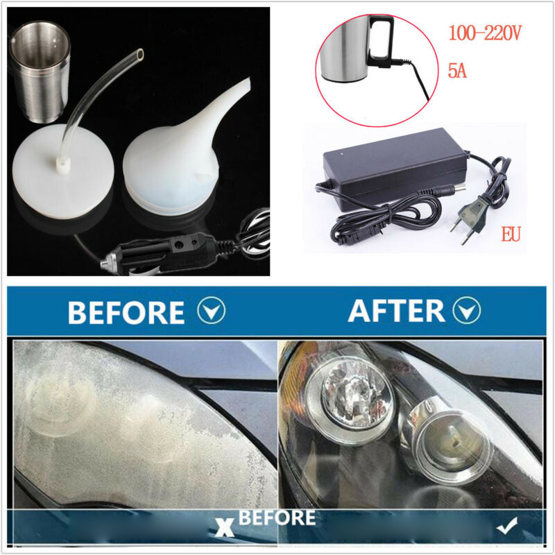 Car Headlight Restorer Repair Restoration Steam Polishing Chemical Tool Cleaner Headlight Refurbished Polish Polisher EU US Plug