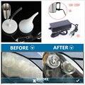 Farol do carro restorer reparação restauração de polimento a vapor ferramenta química mais limpo faróis remodelado polonês polidor plugue da ue