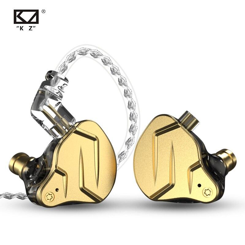 Плотным верхним ворсом KZ ZSN Pro X вкладыши Наушники гибридной технологии 1BA + 1DD HIFI Басс, металлические наушники для бега спортивные Шум шумопод...
