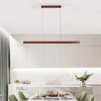 Lámparas colgantes de madera LED minimalistas, accesorios de iluminación para comedor, hogar, Hotel, oficina, cocina, sala de estar