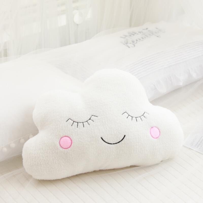 뜨거운 박제 구름 문 스타 빗방울 플러시 베개 부드러운 쿠션 구름 박제 인형 장난감 아기 어린이 베개 소녀 선물
