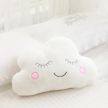 Hot  Stuffed Cloud Moon Star Raindrop Plush Pillow Soft Cushion Cloud Stuffed Plush Toys For Children Baby Kids Pillow Girl Gift hamtoys 60cm cotton cushion plush hippo stuffed toys boy girl hippopotami sleeping pillow large soft toy for children kids sa21