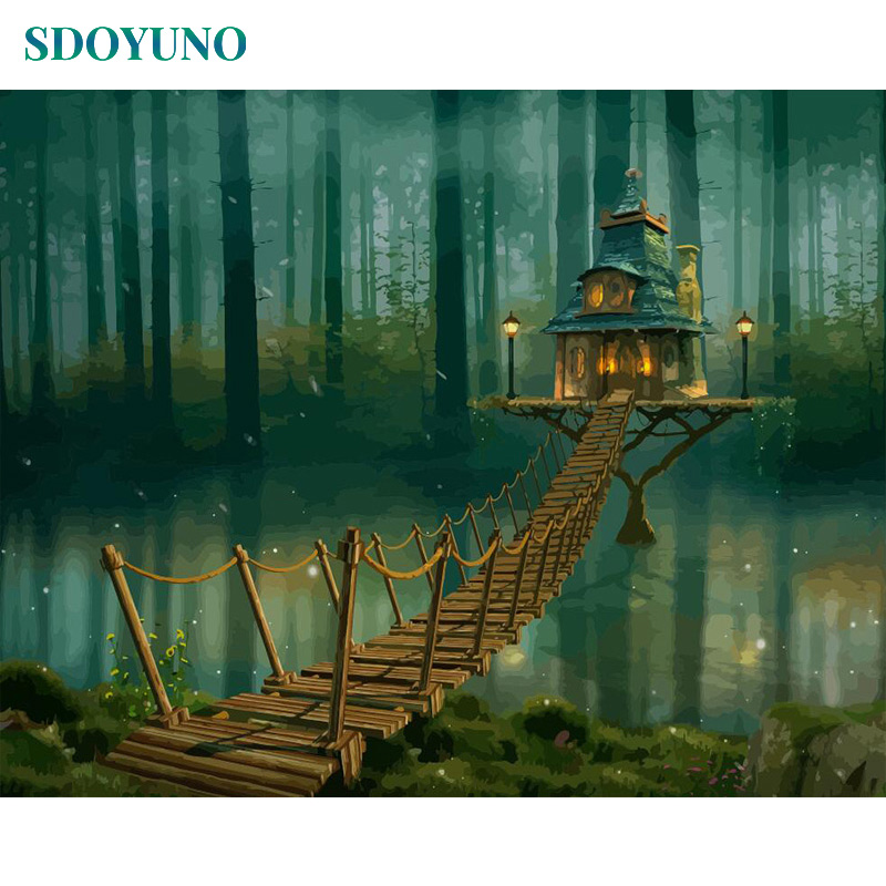 Hfcac8b3af47e43a488f42974d97b8132v SDOYUNO 60x75cm Frameless Painting By Numbers Nature Landscape pictures by numbers DIY For Home Decoration Gift