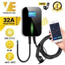 32A 1Phase APP Wifi EVSE Wallbox EV Charger Electric Vehicle Charging Station with Type 2 Cable IEC 62196 2 for MINI Cooper