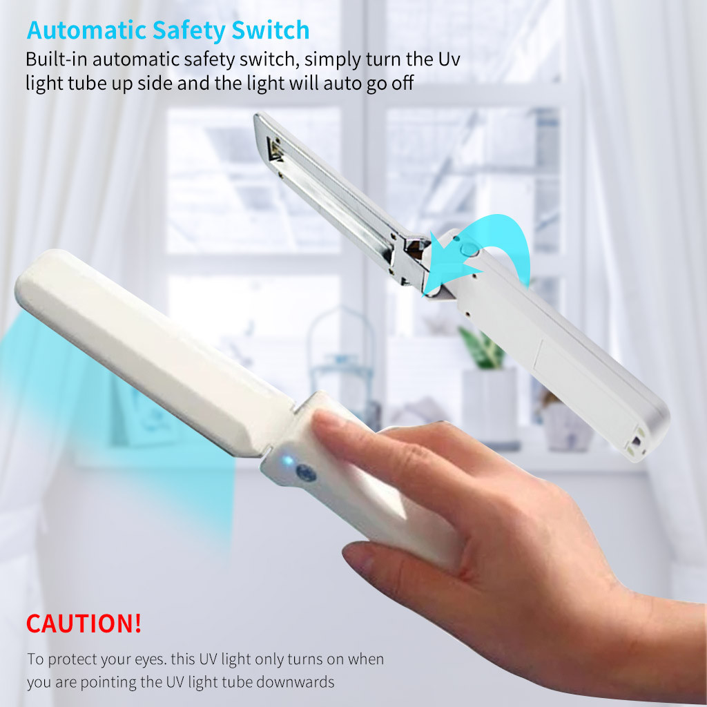 Person - Portable Handheld 2W UV Disinfecting Sterilizing Germicidal Lamp Wand