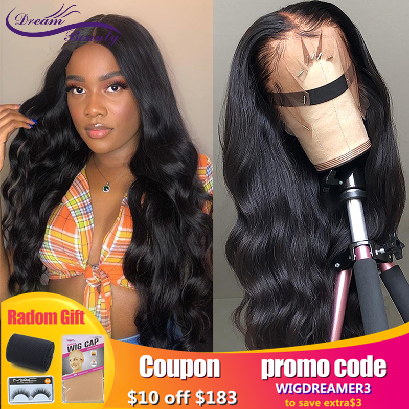 Lace Front Human Hair Wigs Pre Plucked 180 Density Brazilian Body Wave Wigs Remy Hair Lace Wigs Dream Beauty
