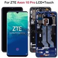 オリジナル 6.47 zte axon 10 pro の lcd ディスプレイタッチスクリーンデジタイザ部門ためのフレームと axon 10 プロ液晶