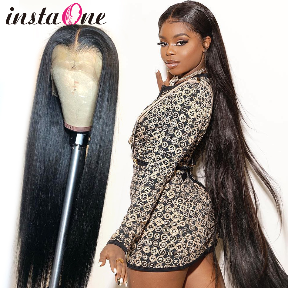 28 30 inch 360 Lace Frontal Wig 250 Density Long Brazilian Straight 13x6 Lace Front Human