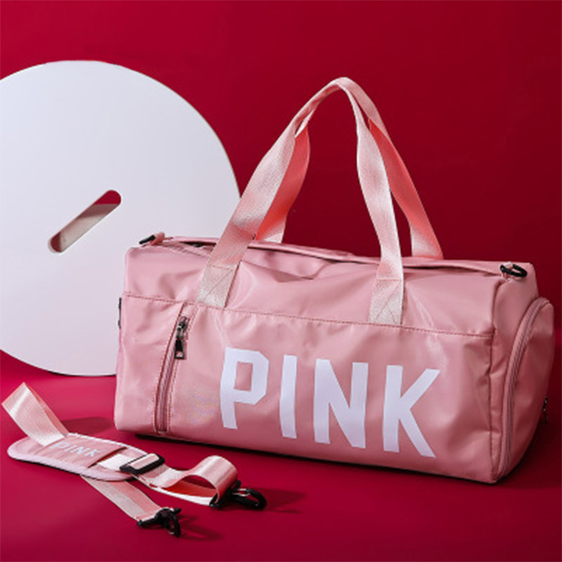 Training Handbag Women Men Waterproof Handbag Exercise Fitness Travel Bag Pink Shoulder Bags Large Capacity Sports Gym Bag New