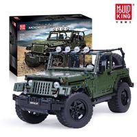 Mould King 13124 MOC 2096pcs RC Wrangler Adventure Off road vehicle Model Technic Building Block Series Small Bricks Toys kits