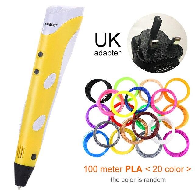 Yellow UK-100m PLA