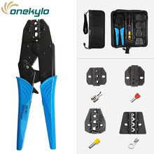 купить Crimping tools pliers set for /tubular/tube/insulated /non-insulated terminals HS-30J 4 jaw kit electrical pressing pliers дешево