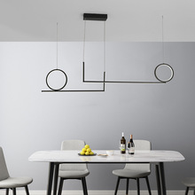 Nordic Simple Morden LED Pendant Lightings For Dining Room Kitchen Cafe Pendant Lamp White or Black Color Hanging Lamps
