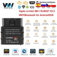 Diagnostic de voiture de wifi de Vgate vLinker MC + ELM327 Bluetooth 4.0 OBD 2 OBD2 ELM 327 pour le Scanner dandroid/IOS