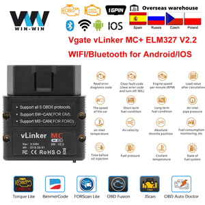 Image 1 - Vgate vLinker MC+ ELM327 Bluetooth 4.0 OBD 2 OBD2 ELM 327 wifi Car Diagnostic For Android/IOS Scanner Auto Tools PK OBDLINK iCar
