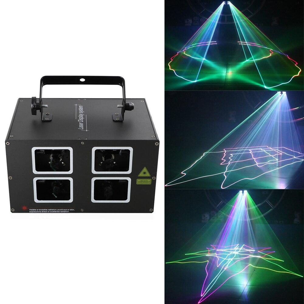 1000 мВт 3D цветной лазерный светильник, DJ дискотека Профессиональный Сценический светильник s фестиваль свадебные вечерние лазерные