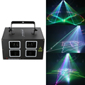 1000 мВт 3D цветной лазерный светильник par DJ диско профессиональный сценический светильник s фестиваль Свадебная вечеринка лазера