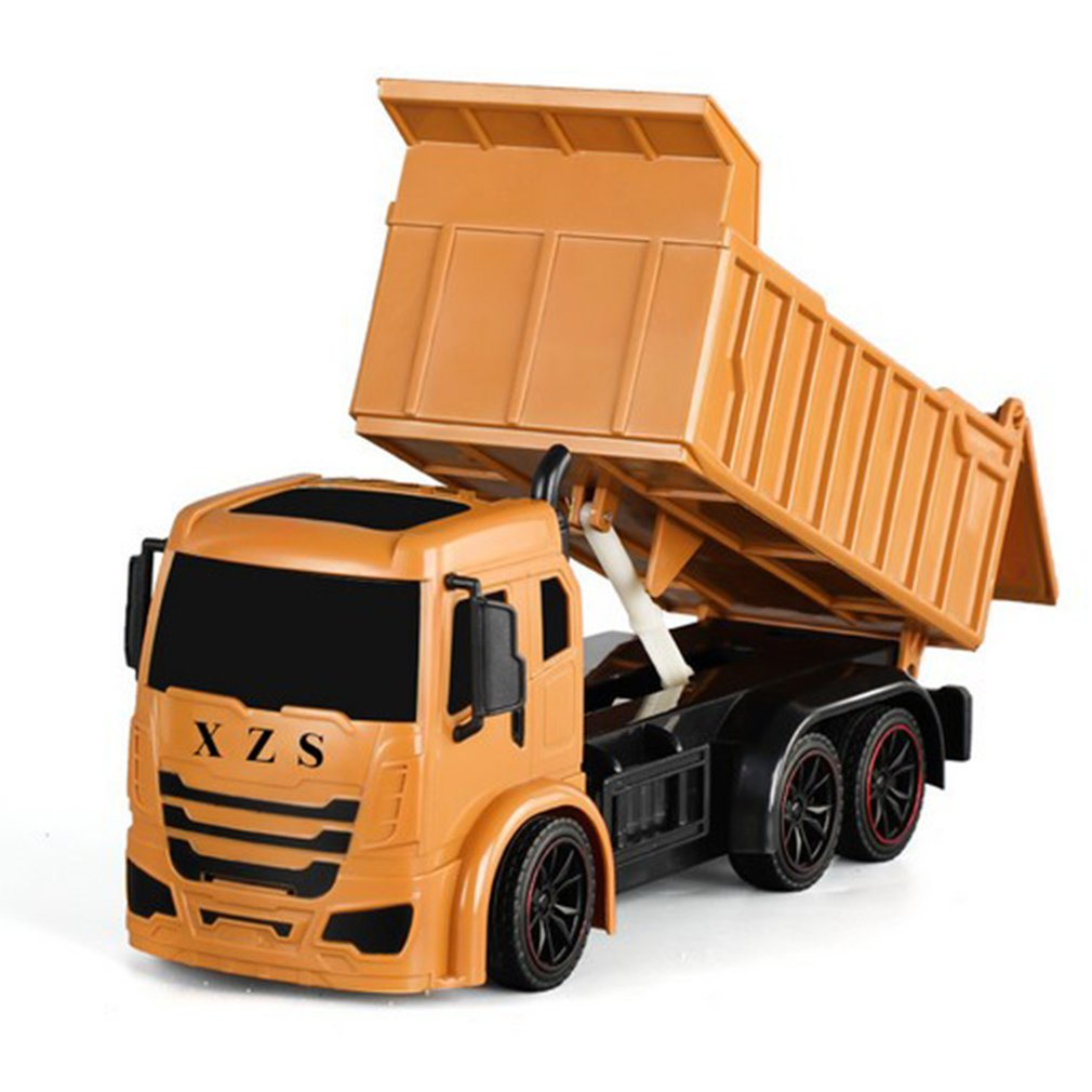 RC Truck 7 Ch 2.4G Tipper Lorry Remote Control Dumper Project Tilting Cart Engineering Vechile Electronic Model Hobby Toys Kids