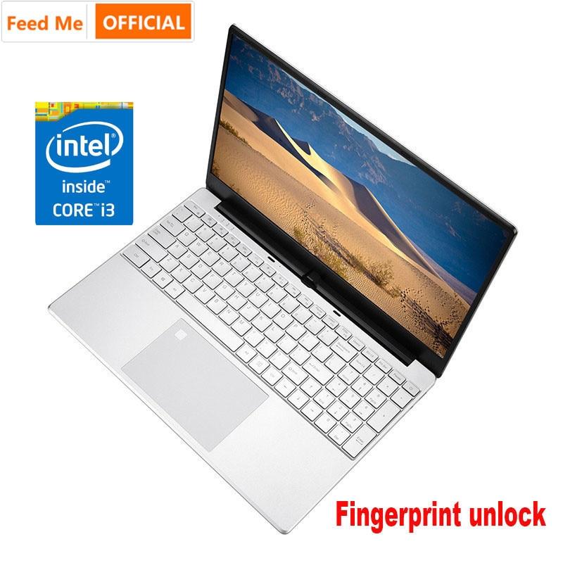 Ordinateur portable 15.6 pouces Intel Core I3 5005U 8GB RAM Netbook 256 GB/512 GB SSD ordinateur portable de jeu avec déverrouillage d'empreintes digitales