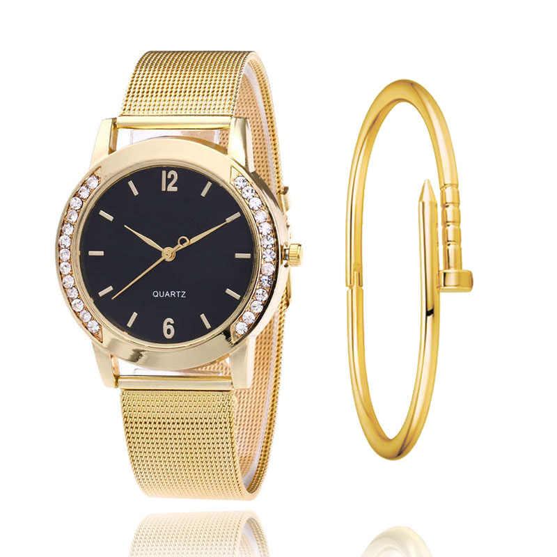 Nova listagem de moda subiu de ouro de malha cinto de França Torre Eiffel senhoras relógio de aço inoxidável pingente torre reloj de quartzo