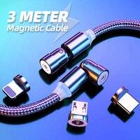 Magnetico Tipo di Cavo C Cavo a 540 Gradi Gira 2.4A Magnetica di Ricarica Micro USB Filo Usbc Tipo-C 1m 2m 3 In 1 Caricatore Del Telefono Cavo