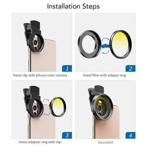 Image 5 - APEXEL 52 мм 7 в 1 полный комплект фильтров для объектива ND CPL Star полный красный желтый цветной фильтр для объектива камеры для Canon всех смартфонов