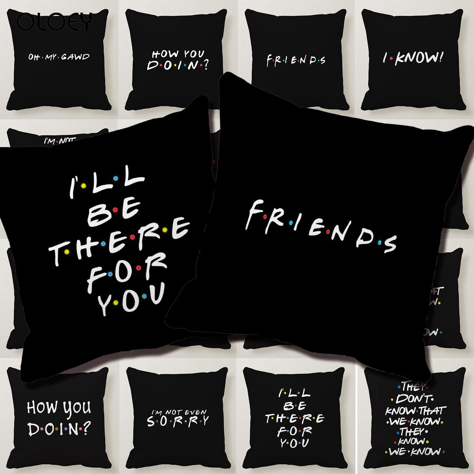 They Dont Know That We Know They Know Friends TV Series Oreiller Pillow