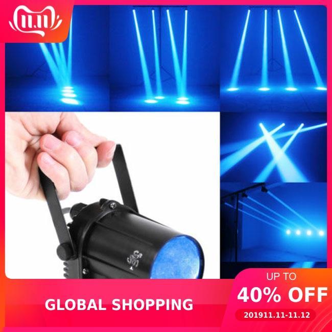 Mini 3W Blue LED Stage Light Lamp Projector Disco Dance Party Club KTV DJ Bar Spin Laser Stage Lighting Effect Spotlight Pinspot