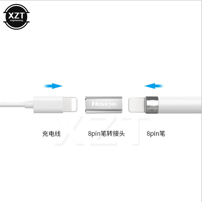 C26 Pencil For Lightning Cable Charging Female To Female Converter Adapter For Apple Pencil IPad Pro White