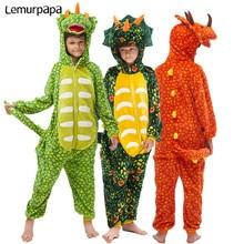 Animal Kigurumis Onesies For Kids Dinosaur Sleepwear Onesie Child Clothing Cartoon Cute Jumpsuit Cosplay Party Costume