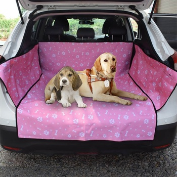 Dog Car Seat Cover  Waterproof Pet Dog Travel Mat Mesh Dog Carrier Car Hammock Cushion Protector With Zipper and Pocket 9