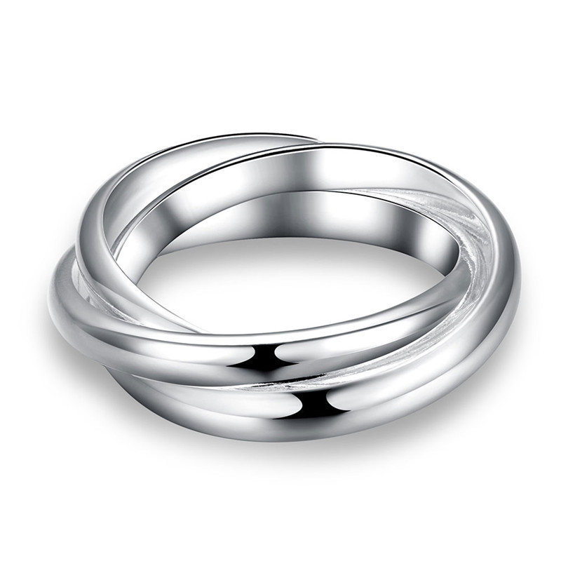 2019 New European And American Creative Silver Glossy Ring Jewelry Hot Women Accessories