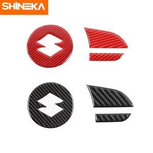 Image 5 - SHINEKA adesivi in fibra di carbonio per Suzuki Jimny 2019 coprivolante per pulsante centrale volante per Suzuki Jimny 2019 2020