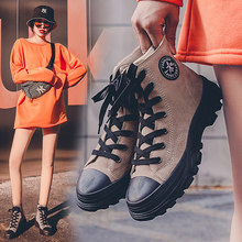 Women Boots Black Retro Ankle Boots Women 2020 Western Leather Low Flat Non-Slip Women'S Boots Winter In Ankle Boots(China)