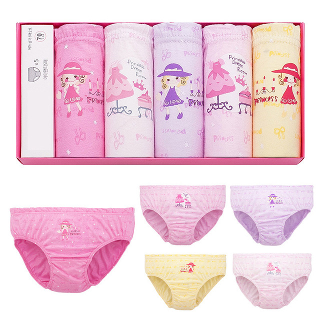 1 Piece 3-12T Panties Kids Underwear Girls Panties Female Cartoon Children Baby Cotton Panties Girls Bowknot Briefs Underwear