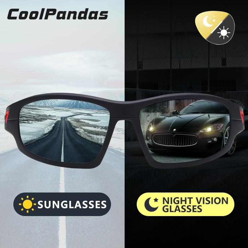 Sport Photochromic Polarized Sunglasses Men Outdoor Driving Fishing Sun Glasses for Day Night Vision glasses gafas de sol hombre