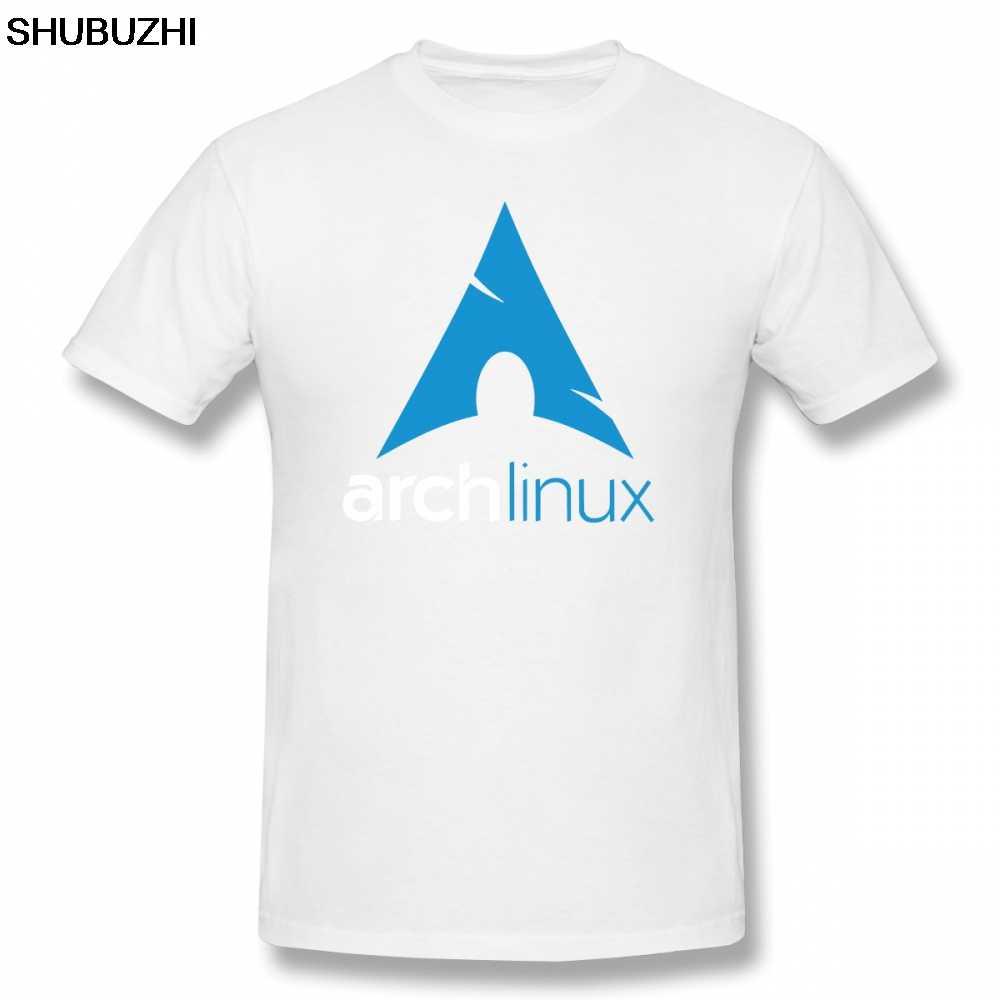 Linux T-Shirt arc Linux marchandise T-Shirt hommes lettre basique T-Shirt drôle à manches courtes décontracté t-shirts Streetwear sbz8464
