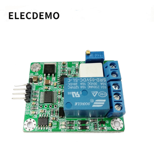 Image 3 - WCS2702 high precision AC and DC current detection sensor module 2A current limiting protection relay serial port