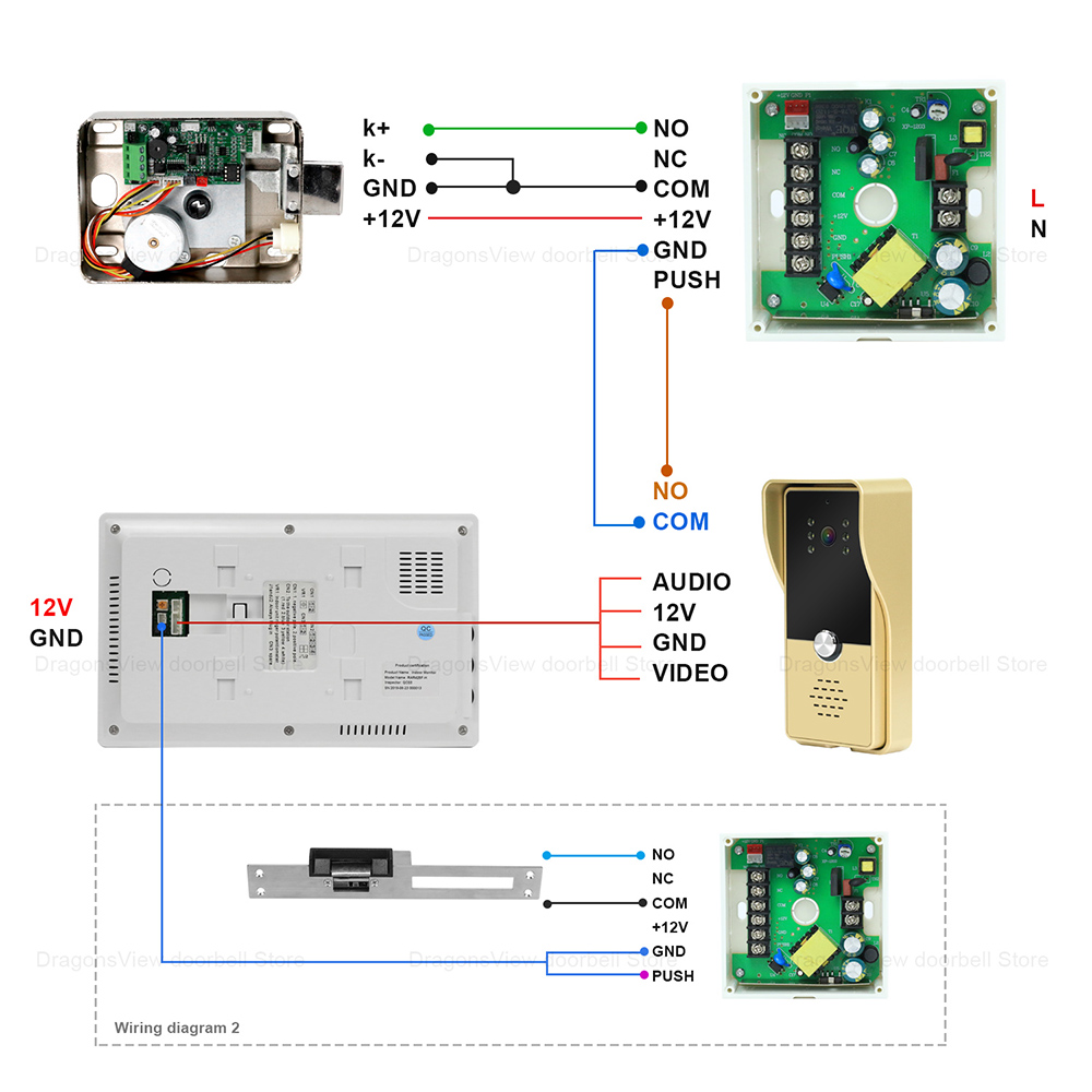 Dragonsview Video-Intercom Access-Control-System Wired Call-Panel Door-Phone Electric-Lock