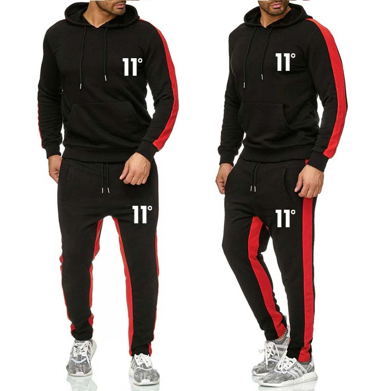 2019 New Sports Suit Loose Sportswear Men Spring And Autumn Fitness Running Clothes Warm Sportswear