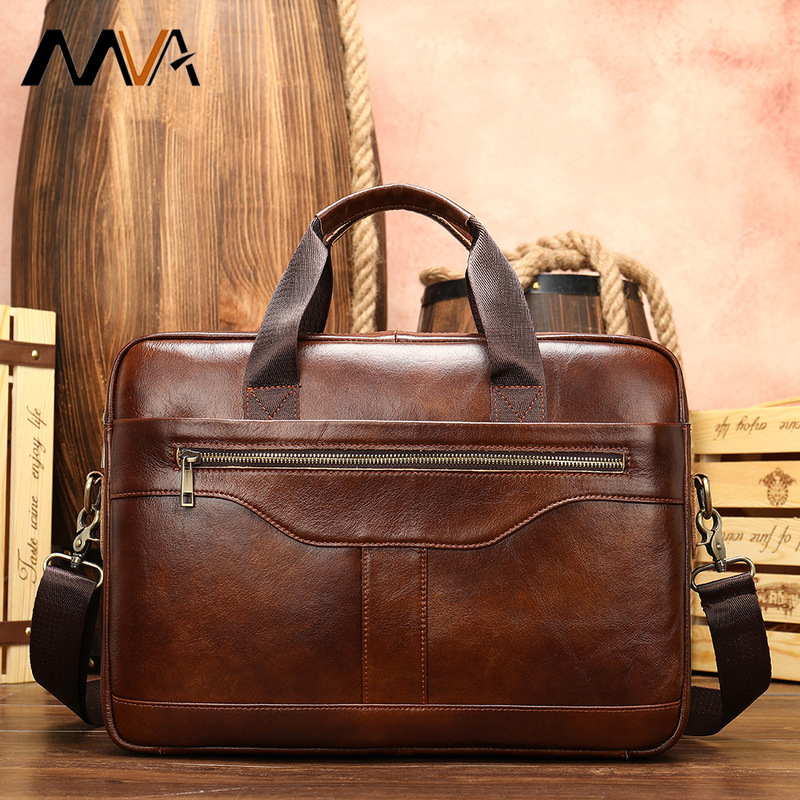14 Inch Computer Business Briefcase Handbag  Leather Men Men's Singles Shoulder Bag  Men Shoulder Bag Genuine Leather Business