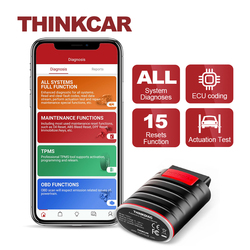 THINKCAR Thinkdiag Diagnostic Scanner for Car 15 Reset Services OBD2 Bluetooth Code Reader Full System OBDii Scan Tools for Auto