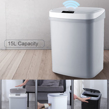 Automatic Intelligent Induction Trash Can Home Kitchen Living Room Bedroom Rubbish Storage Plastic Waste Garbage Bin цена и фото