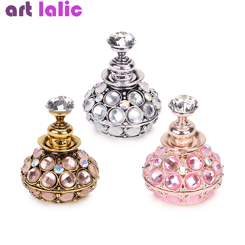 1Pc Retro Magnetic Nail Art Holder Rose Gold Silver Pink Acrylic Crystal Practice Training Display Stand DIY Manicure Tool