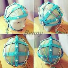 Capuchon cérébral EEG, capuchon délectrode humide, capuchon délectrode plaqué or, capuchon délectrode cérébrale, adapté à OpenBCI et à dautres équipements