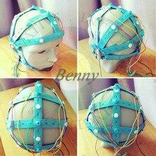 EEG Gehirn Kappe, Nass Elektrode Kappe, Gold überzogene Elektrode Kappe, Gehirn Elektrode Kappe, geeignet für OpenBCI und Andere Ausrüstung